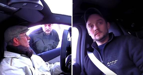 Gamlingen ber bilmekanikeren sette seg i bilen. Men når han gjør det, får han sitt livs sjokk!