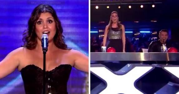 Alle nyter den vakre operasangen. Men når hun river av seg kjolen får juryen bakoversveis!
