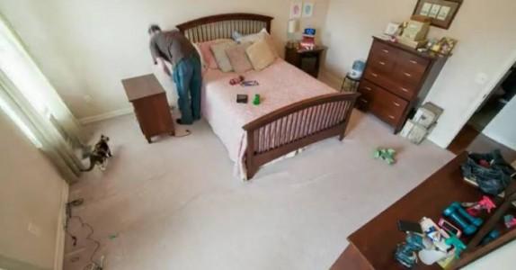 Kona hans reiste bort en helg. Da bestemte mannen seg for å gjøre DETTE på soverommet!