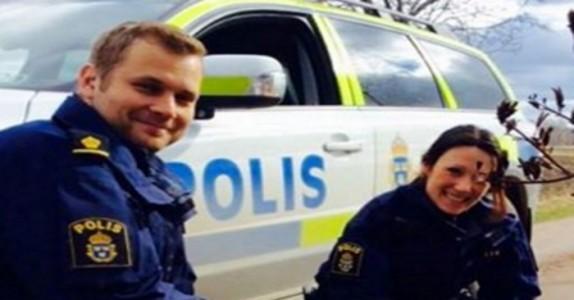 Han kjører vinglete og forsøker å rømme. Men når politiet ser HVEM som kjører begynner de å le!