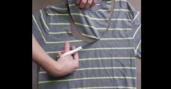 Har du en gammel t-skjorte? Før du kaster den, burde du gjøre DETTE istedet!