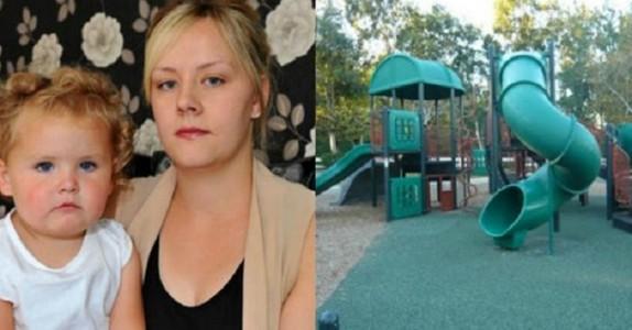 Jenta kommer gråtende ut av sklien! Nå vil mammaen advare mot det FORFERDELIGE datteren ble utsatt for!