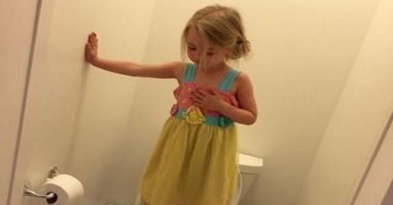 Bildet av den lille jenta ser uskyldig ut. Men når du leser årsaken, vil det gi deg frysninger…