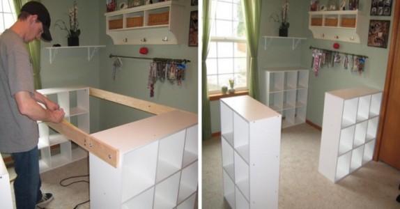 Han skrur 3 IKEA-hyller sammen og forvandler HELE rommet. Så smart!