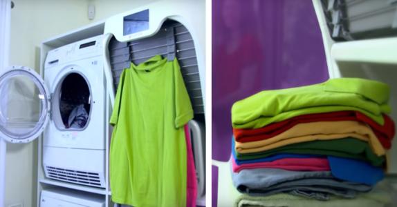 Her er alles drøm – en maskin som tørker, stryker og bretter klærne dine på en gang!