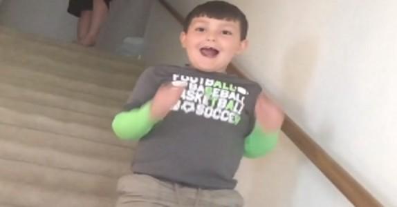Moren forteller til sin 7 år gamle sønn at han endelig er kreftfri – reaksjonen er utrolig!