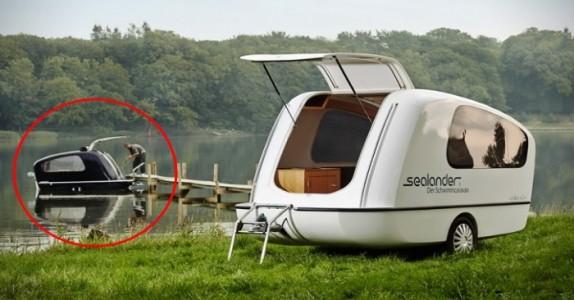 Det ser ut som en vanlig campingvogn. Men VENT til du ser nærmere!