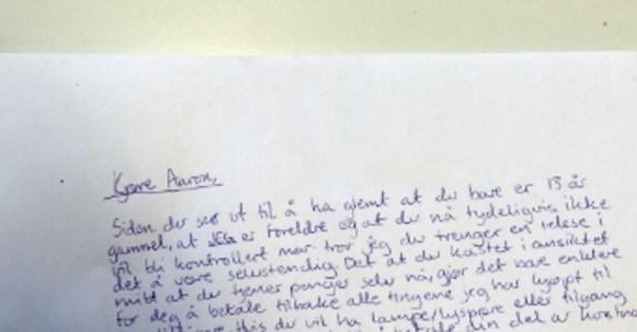 Den 13 år gamle gutten er arrogant og respektløs. Det moren skriver til han i dette brevet er genialt!