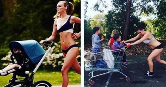 Småbarnsmoren etterligner kjendisenes bilder – nå hylles hun av millioner!