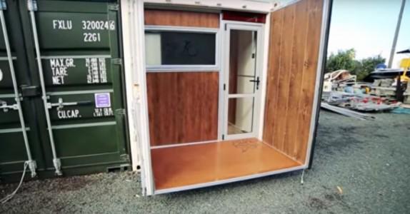 Denne mannen bor i en container på bare 15 kvadratmeter. Men bare vent til du ser INNSIDEN!