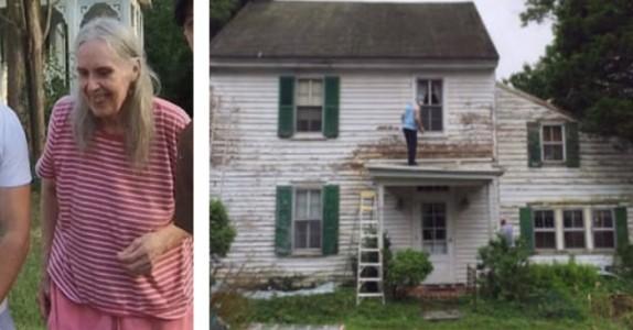 Den eldre damens hus var en skamplett i nabolaget. Da bestemte naboene seg for å gjøre DETTE!