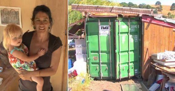 Moren bor med datteren i en container. Men når jeg ser innsiden? Her vil jeg OGSÅ bo!