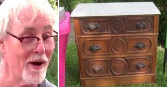Mannen kjøpte en 125 år gammel kommode for 800 kroner. Da finner han en HEMMELIG skuff!