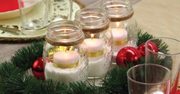 Liker du julelys? Slik lager du en enkel, men NYDELIG borddekorasjon!