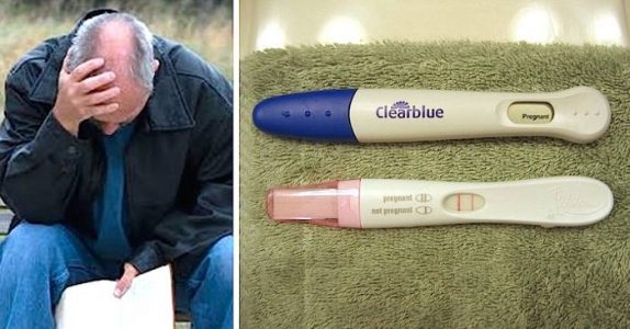 Mannen klager på sin late hustru. Helt til han ser graviditetstesten og innser at det ikke er hennes!