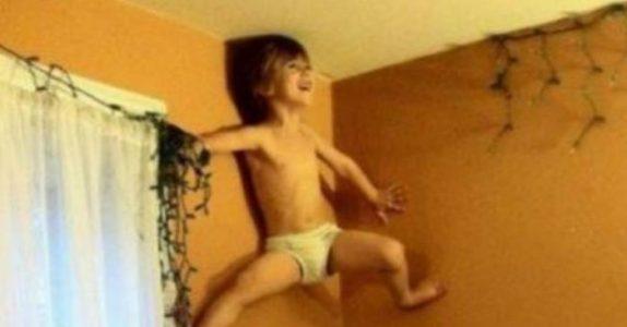18 bilder av barn og deres uforklarlige påfunn. Hva er det egentlig som skjer på nummer 11?