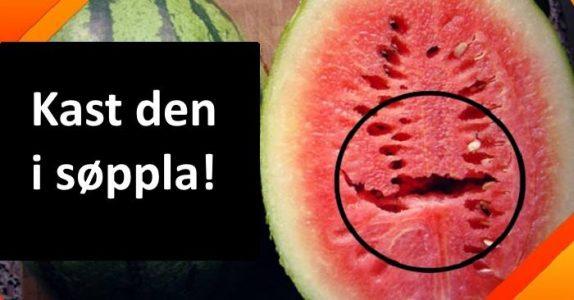 Har du åpnet en vannmelon og den har slike sprekker? Da må du kaste den med en gang!