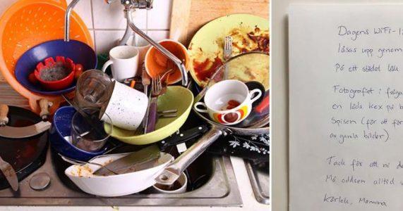 Tenåringene nektet å ta oppvasken. Men da svarer moren med et GENIALT triks!