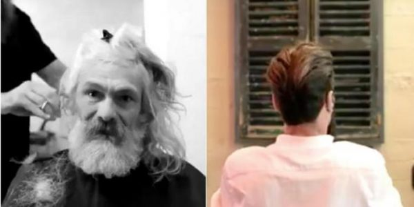 Den hjemløse 55-åringen får en makeover. Men når han ser seg selv i speilet, brister han ut i GRÅT!