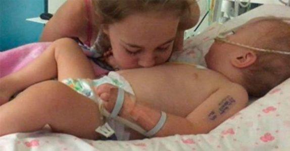 Jenta kysset sin døende lillesøster på magen i sykehussengen. Da skjer det uforklarlige!