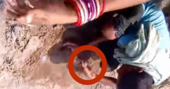Når barna leker ser de plutselig noe i sanden. Når de begynner å grave oppdager de noe FRYKTELIG!