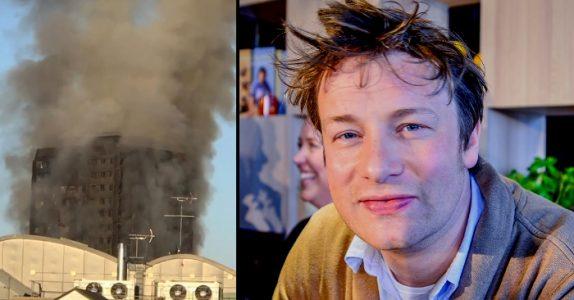 Hundrevis av familier mistet alt i storbrannen i London. Derfor gjør Jamie Oliver DETTE!