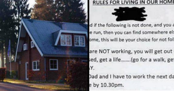 Mammaen ble lei av den late tenåringen sin. Da laget hun syv regler, som nå deler internett i 2!