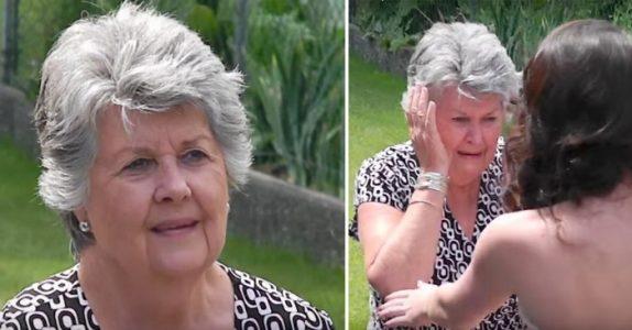 Tenåringen viser seg frem i ballkjolen sin. Da bryter bestemoren sammen i tårer!