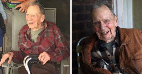 Etter flere tiår avslører 98-åringen hva han har holdt hemmelig. Og det sjokkerer alle!