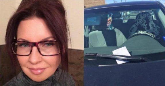 En beruset kvinne lot bilen sin stå på parkeringsplassen over natten. Neste dag finner hun DETTE brevet!