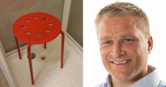 Claus tok med IKEA-krakken inn i dusjen. Nå ler TUSENVIS av den pinlige hendelsen!