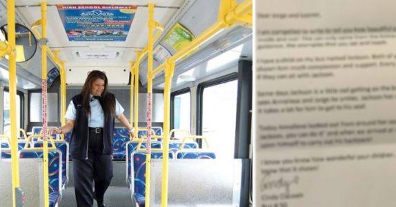 Bussjåføren sender med barna et brev til moren. Men når hun leser brevet, blir hun rørt til tårer!