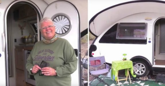 Pensjonisten bor i en liten campingvogn. Men bare VENT til du ser innsiden. Utrolig!