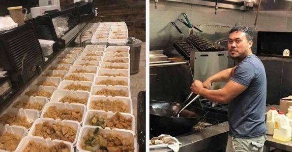 Denne mannen jobbet natt og dag for å lage 1000 måltider. Årsaken er fantastisk!