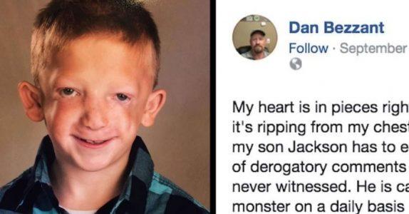 7-åringen ble kalt «monster» og ville begå selvmord. Da gir pappaen mobberen en lekse han aldri vil glemme!