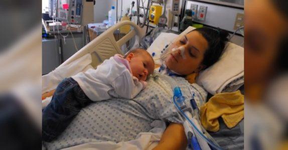 Den nybakte mammaen ble lam like etter fødselen. Men hun NEKTET å gi opp!