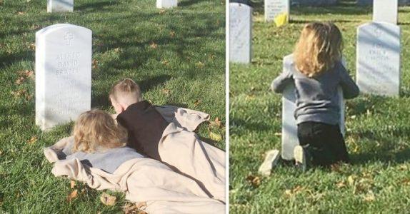 Sønnene vil ha et tegn fra pappaen i himmelen. Det som skjer ved graven da får tårene til å renne!