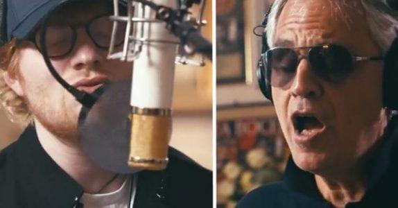 Ed Sheeran reiste til Italia for å synge duett med Andrea Bocelli. Her er det magiske resultatet!