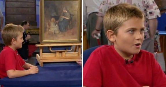 Gutten kjøpte en maleri for 15 kroner. Noen måneder senere avsløres den SJOKKERENDE historien bak!