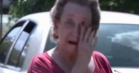 Fire ungdommer sniker seg inn i hagen til 75-åringen. Årsaken rører henne til tårer!