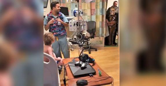 Gutten er alvorlig syk. Men livet hans forandrer seg helt når han ser hvem som kommer for å besøke ham på sykehuset!