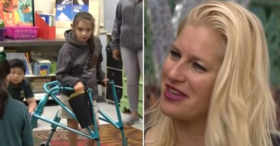 Den funksjonshemmede jenta klarer ikke å bli med på klassetur. Så får lærerinnen hennes en idé!