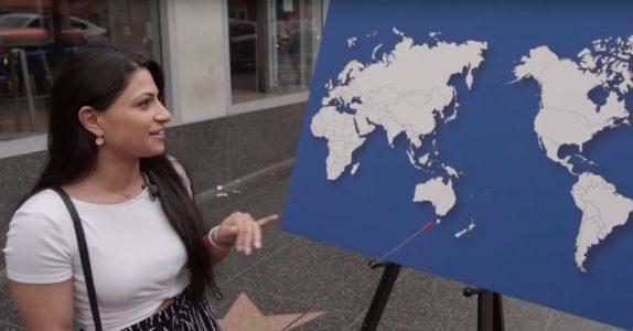 Han spør tilfeldige amerikanere om de klarer å peke ut et land på kartet. Resultatet gir ham SJOKK!