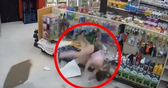Tyvene prøver å rømme fra butikken. Men det går ikke helt etter planen!