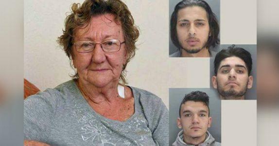 77-åringen tar ut penger i minibanken når 3 unge menn prøver å rane henne. Så får hun de til å angre!
