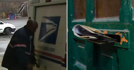 Postmannen går mot døren for å levere. Men når han titter inn får han frysninger over hele kroppen!