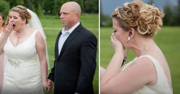 Brudens sønn døde før bryllupet. Men når hun ser hvem som kommer i bryllupet bryter hun ut i tårer!