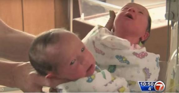 Disse tvillingene deler samme mor. Men de sjokkerte legene av en helt spesiell grunn.