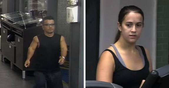 Hun ser rart på mannen som går inn på treningsstudioet. Sekunder senere får hun en tankevekker!