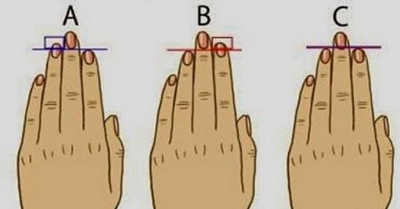 Er ringfingeren din lengre enn pekefingeren din? DETTE er hva det betyr!